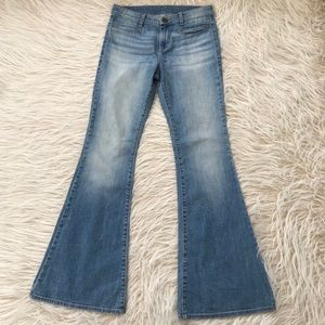 Kut From the Kloth mid rise flare wide bell jeans